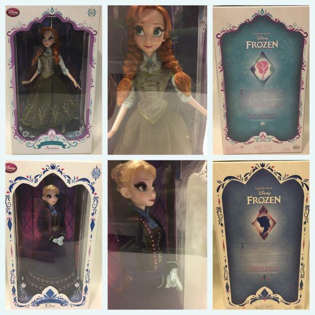 全球限量5000隻 冰雪奇緣 Elsa Anna 娃娃