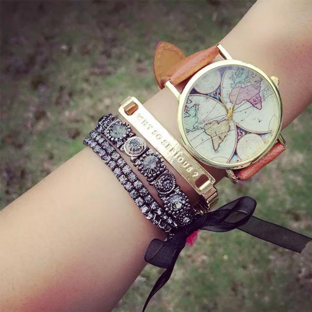 復古風格地圖手錶