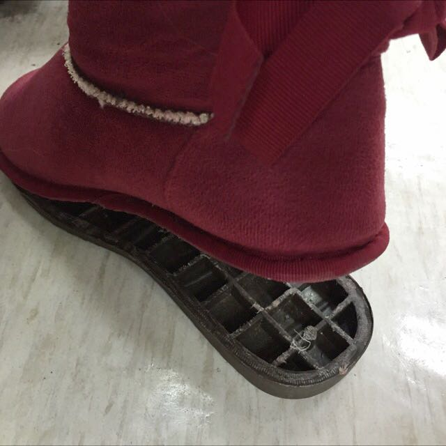 開口笑雪靴