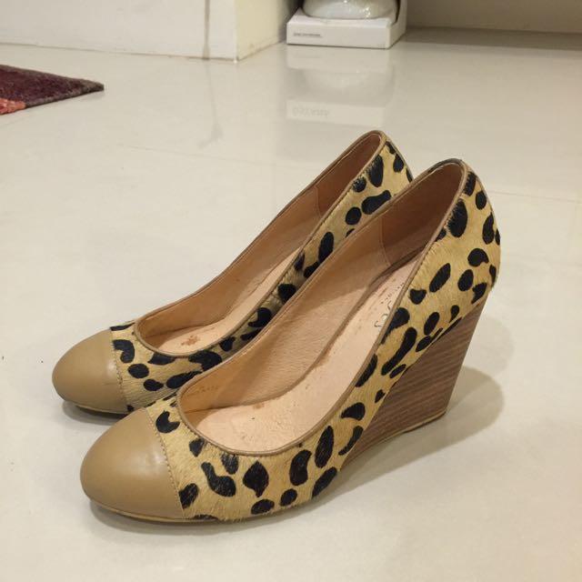 豹紋—楔形高跟鞋