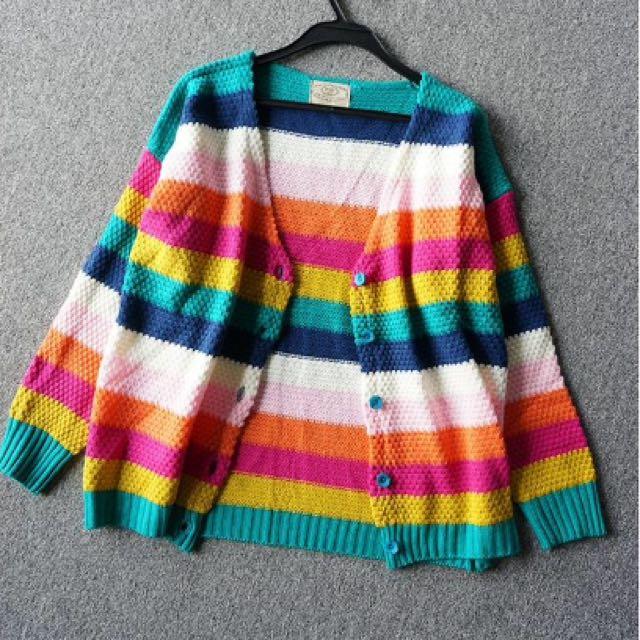 全新彩色針織外套