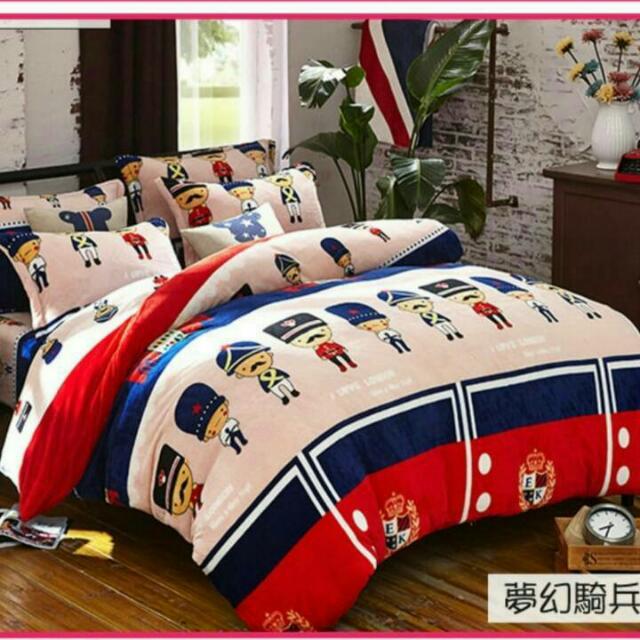 珊瑚絨四件床單組