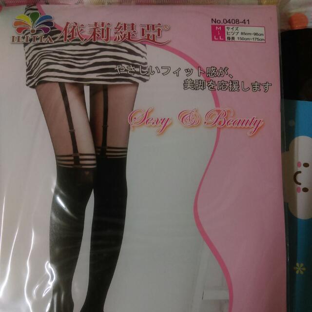 含運  性感吊帶造型女襪