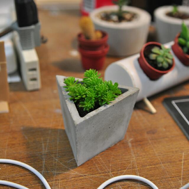 水泥盆栽 全手工 療癒裝飾品