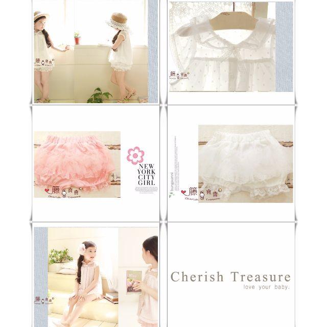 【女童套裝】韓版公主清新圓點雪紡漸層套裝  TF611A