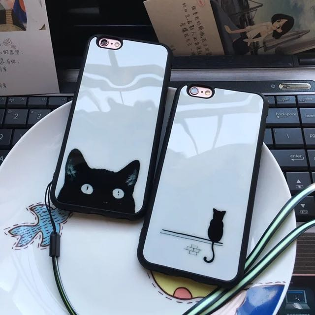 鏡面手機殼 iPhone 6 貓咪