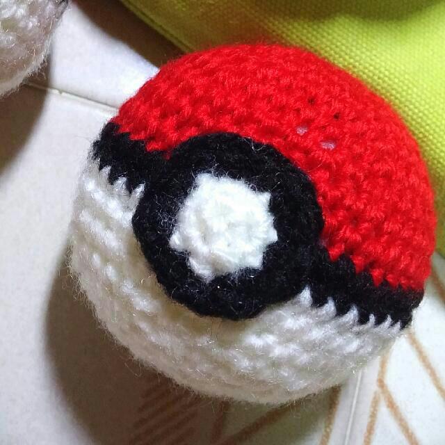 Amigurumi Pokeball Crochet Handmade Stress Ball Pokemon Design