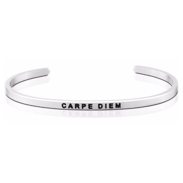 Carpe Diem 銀色 Mantraband悄悄話手環