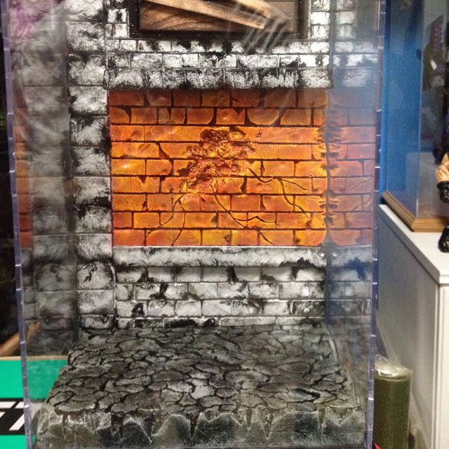 Custom Diorama In Display Casing  Marvel Legends