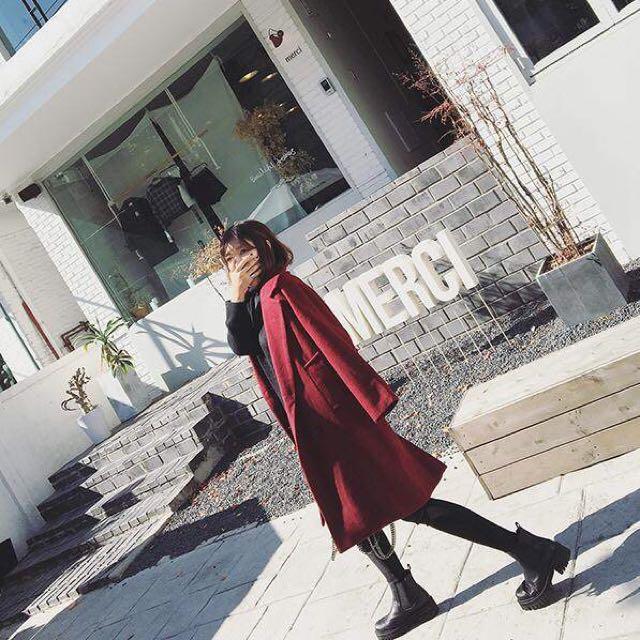 |daydream|雙排扣毛呢大衣(A0019)