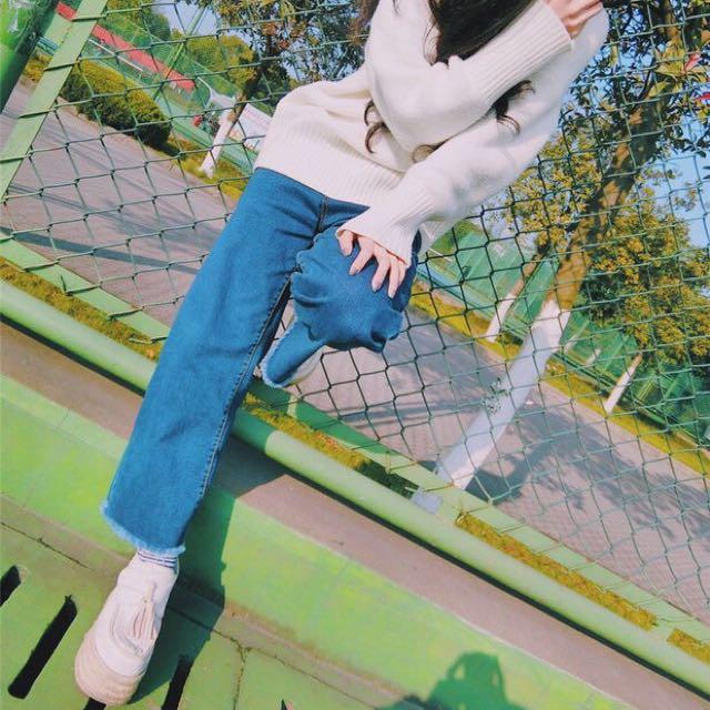 |daydream|復古毛邊牛仔褲(C0021)