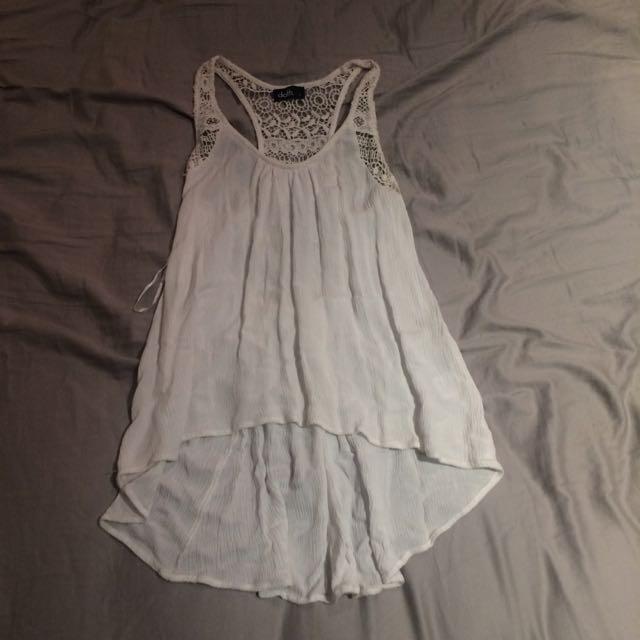 Dotti White Lace Detail Shirt
