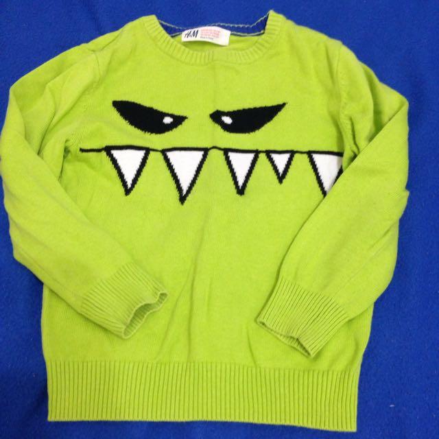 H&M小怪獸針織毛衣 2-4Y