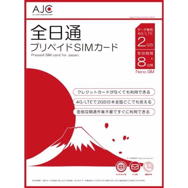 Japan pre-paid data sim card (Docomo)