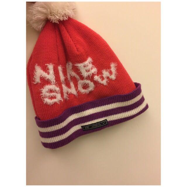 NIKE毛帽 /粉色