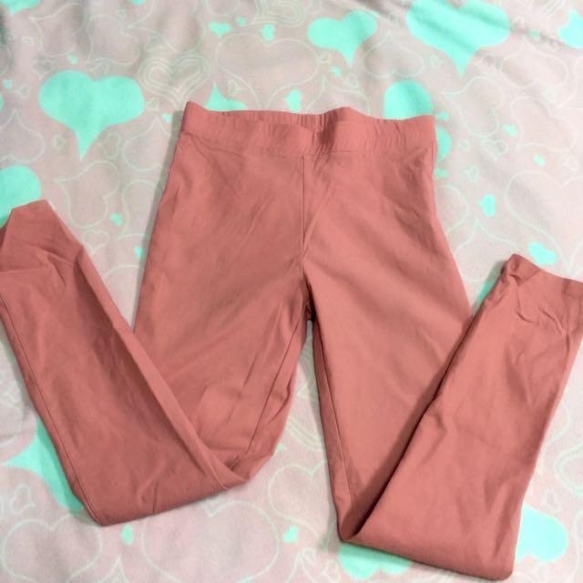 Pazzo粉橘色🌸內搭鉛筆褲