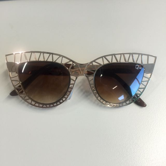 Quay Steelcat Gold Sunglasses
