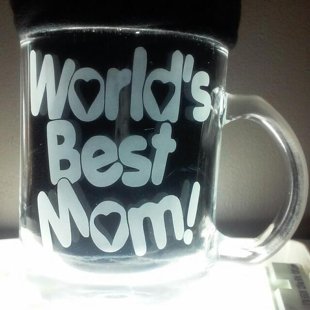 World's best mom! Coffee mugs valentine's gifts presents Almost Any Image You Want Etchings Engravings