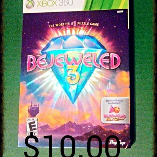 PRICE REDUCED Xbox 360 Bejeweled Game