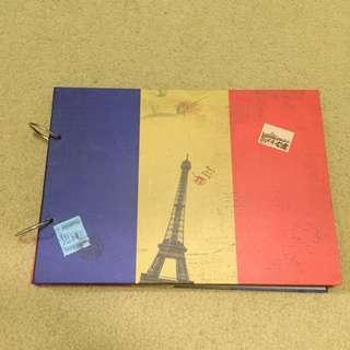 鐵塔硬紙板筆記本