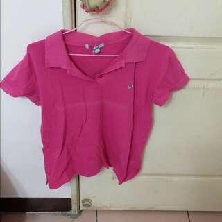粉紅色 運動衣服 短袖 上衣 運動必備