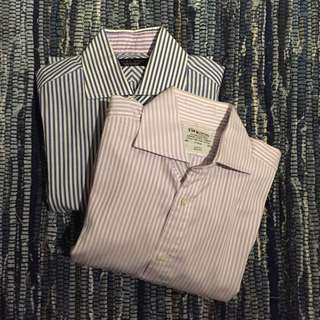 T.M. Lewin & ZARA MAN Slim Fit Shirts Sz S - 2 Pack