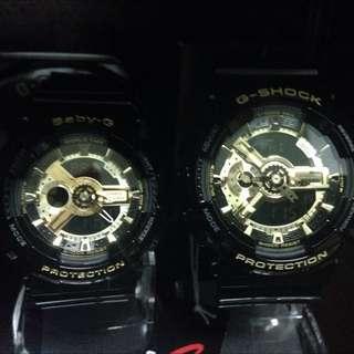 G-Shock 黑金對錶