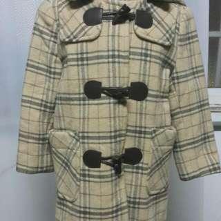 日系風童裝毛料外套