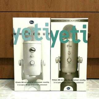 New Limited Edition Blue Microphones Yeti USB Microphone -  platinum & whiteout
