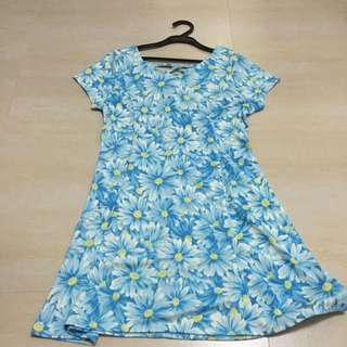 2016 Cecil Mcbee福袋拆售 水藍花花後交叉洋裝