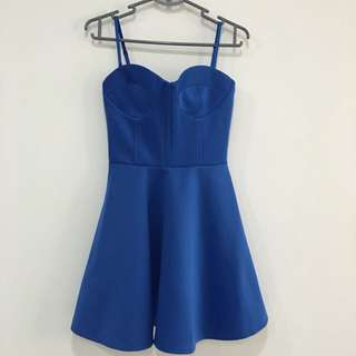BNWT ASOS Blue Bustier Dress For Chinese New Year