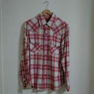 絕對正版 Levi's 經典格紋厚棉襯衫
