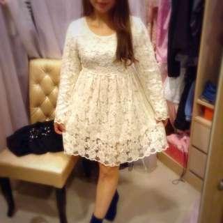 白雪公主蕾絲洋裝