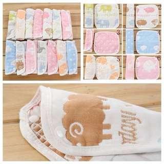 純綿八層紗背帶口水巾(一組2個)