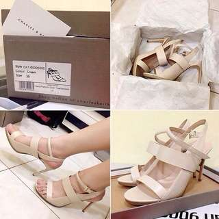 Charles & Keith Beige Shoes