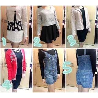 二手衣💗日系💗韓風、韓系、韓版(通通都不超過$400喔)