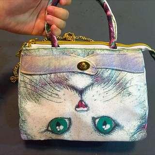 全新 貓咪迷你手提 肩背包 含運