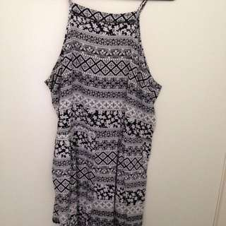 Black And White Play suit