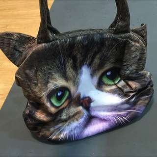 全新 貓咪 口金 肩背包 手提包 含運
