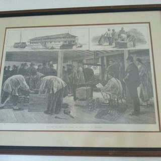 Vintage Picture of Opium Trading