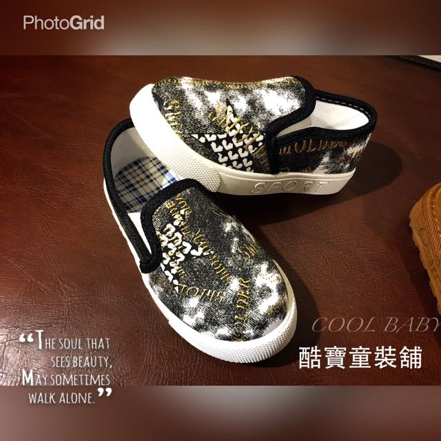 童2016春最新款時尚帆布鞋