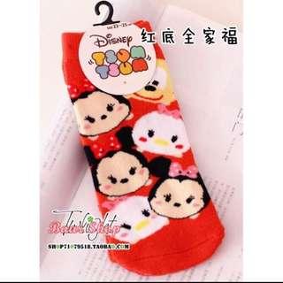迪士尼 米奇米妮 唐老鴨黛西 可愛加厚棉襪短襪 襪子
