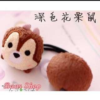 迪士尼史迪奇 草莓熊 花栗鼠 髮圈 髮帶 髮飾