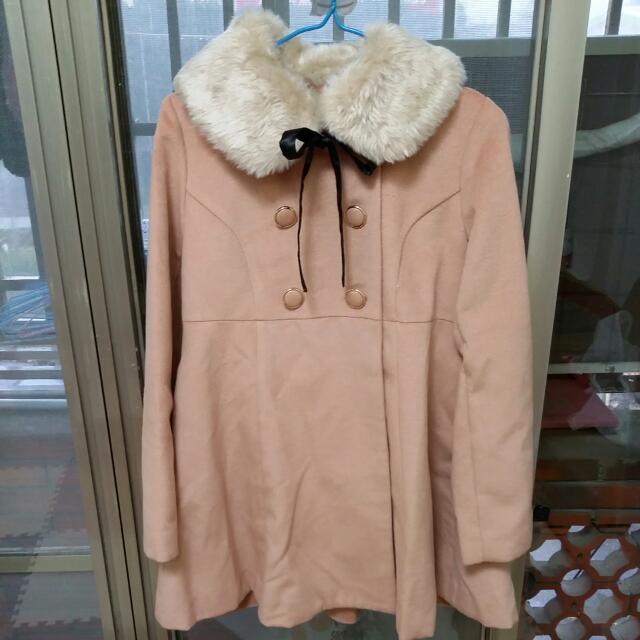 (全新)粉色大衣