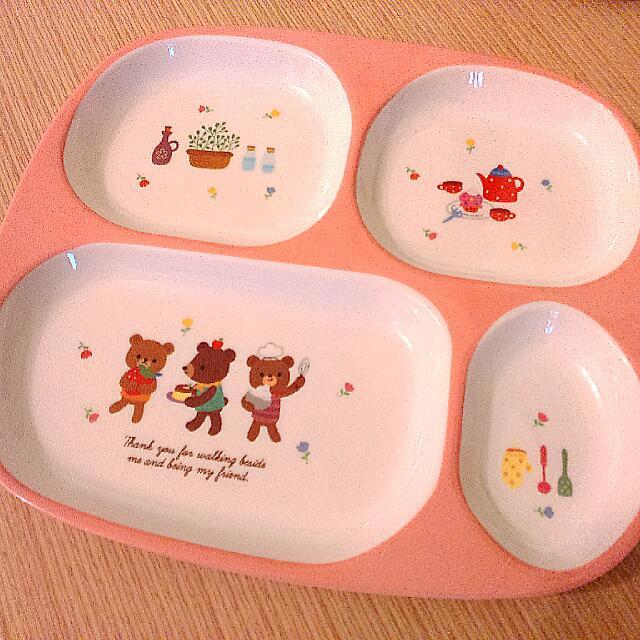可愛兒童餐盤