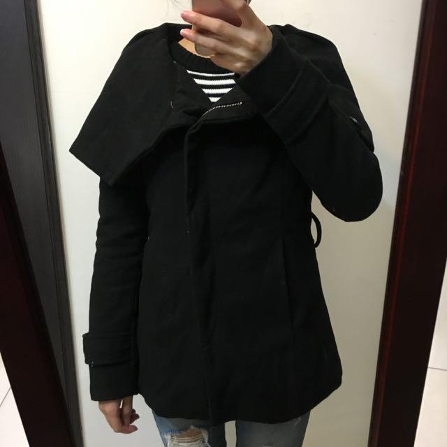 玫瑰領大衣外套