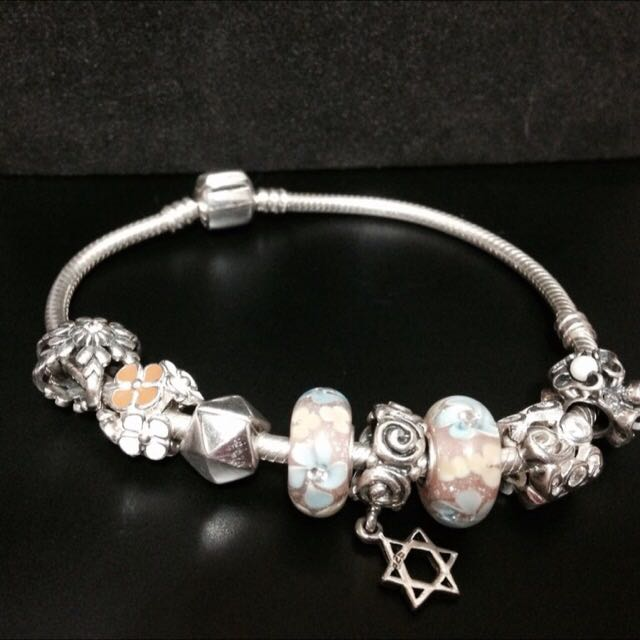 純銀手鍊珠 正925純銀 /非 Pandora潘朵拉專櫃貨造型 璀璨手鍊