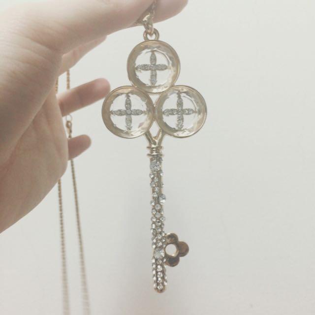 鑰匙 長條造型項鍊👍🏼