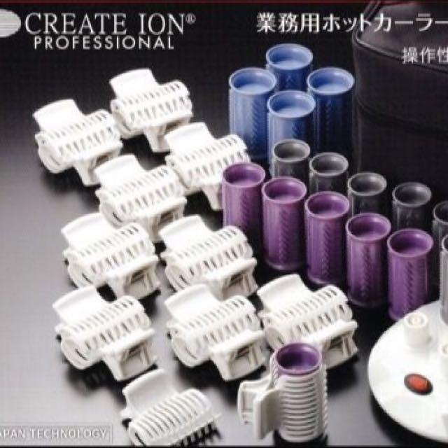 日本 Create Ion 電熱捲 20件組 現貨* 快熱熱髮捲/電捲/電髮捲/電棒 CIH-W12 新秘 新娘秘書