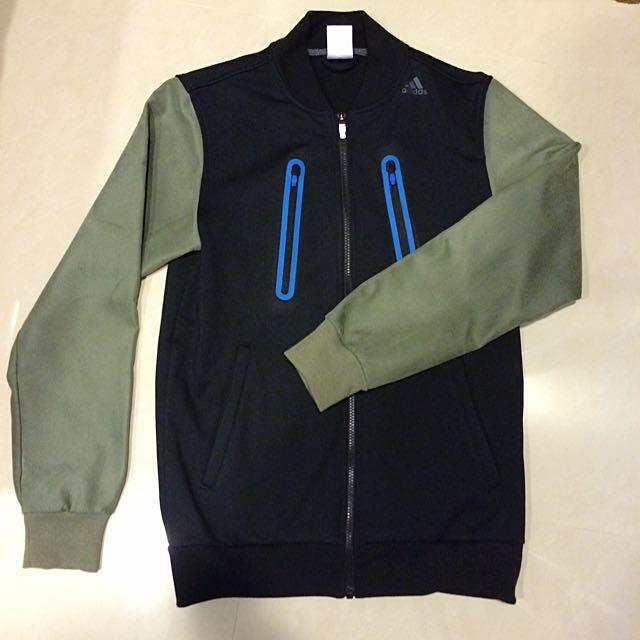 「降價囉」Adidas 特殊皮袖 棒球外套 拼接 (飛行外套/MA1可參考)